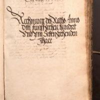 Ratsrechnung 1517