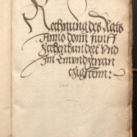Ratsrechnungen 1521
