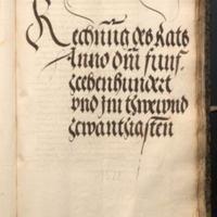 Ratsrechnungen 1522